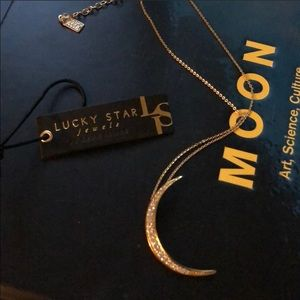 🌙 MIDNIGHT CRESCENT MOON 🌙 NECKLACE LUCKY STAR